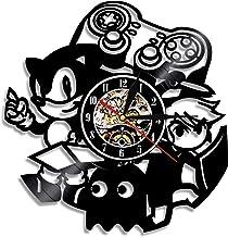 ZFANGY Gamepad-Controller Klassische Gaming-Wand-Kunst-Schallplattenuhr Videospiel-Charakter Silent Sweep Quarzuhr Schwarz...