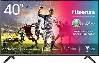 "Hisense 40AE5600FA Smart TV Android, LED FULL HD 40"", Design Slim, USB Media Player, Tuner DVB-T2/S2 HEVC Main10, Bluetooth"