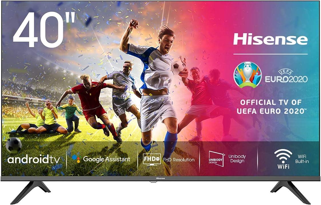 Tv 40 pollici hisense 40ae5600fa smart tv android led full hd 40