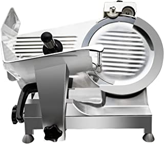 Premium Commercial Semi-Auto Meat Slicer - KITMA Stainless Steel Electric Cheese Deli Food Slicer with 12'' Blade, Adjustable Thickness Control for Restaurant, Kitchen