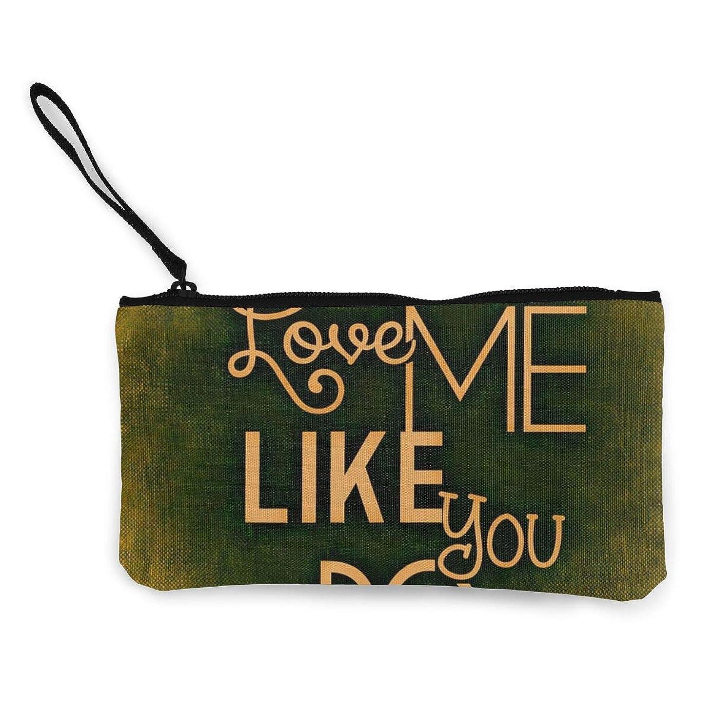 召集する六分儀副産物ErmiCo レディース 小銭入れ キャンバス財布 私を愛してますか 愛 LOVE 小遣い財布 財布 鍵 小物 充電器 収納 長財布 ファスナー付き 22×12cm