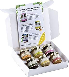 Honig Geschenk-Set Regional - 6 Honige aus der Region - Heide-Honig, Himbeerblüten-Honig, Linden-Honig, Raps-Honig, Tannen-Honig, Sanddorn-Honig 6 x 50g