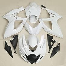 XMT-MOTO ABS Injection Fairing Kit BodyWork For SUZUKI GSXR GSX-R 600 750 2006-2007 K6(Unpainted White,1 Set)