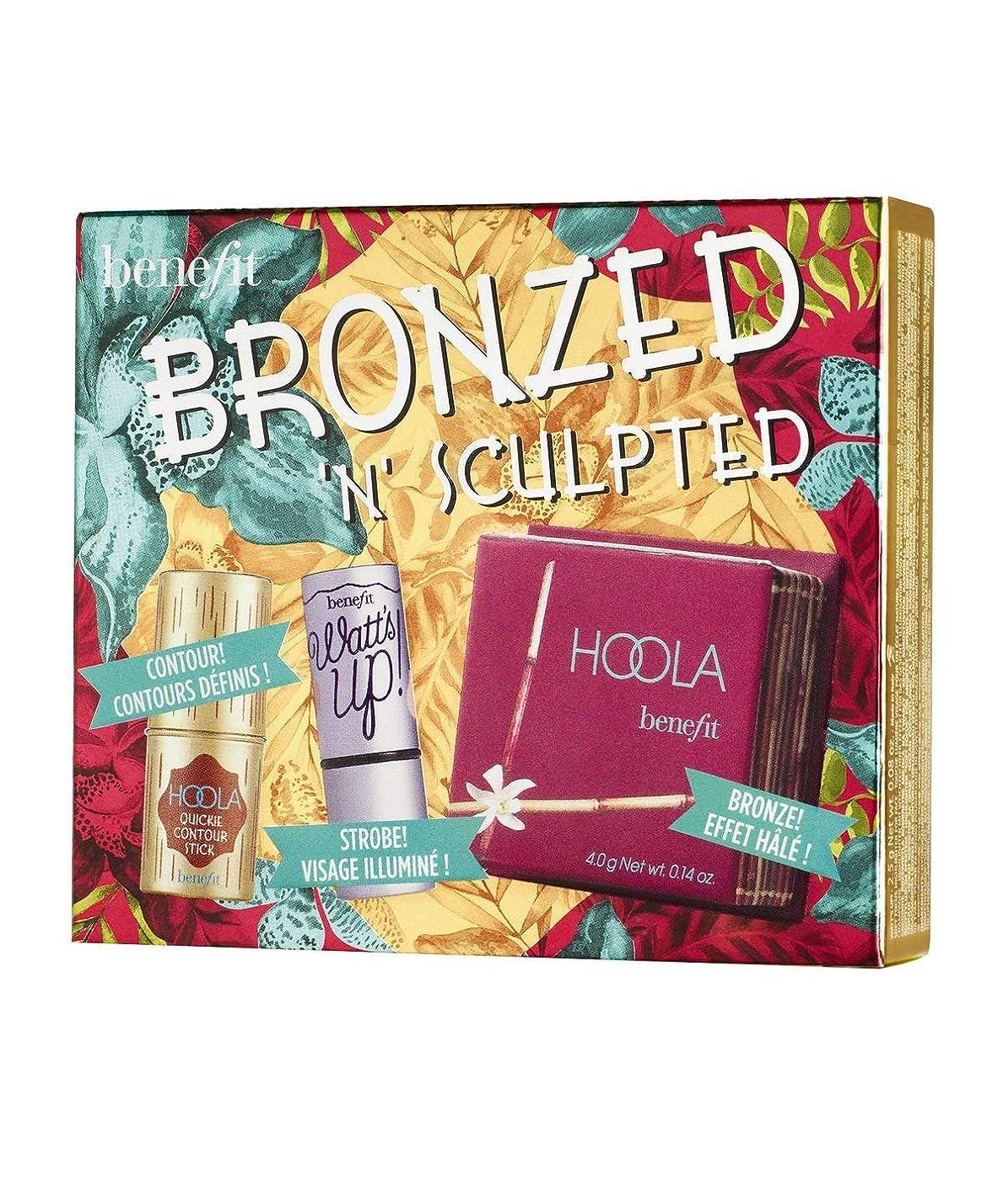 突き刺す不明瞭接続詞Benefit Bronzed 'N' Sculpted Kit, Hoola Matte Powder, Watt's Up, Hoola Quickie Contour Stick [並行輸入品]