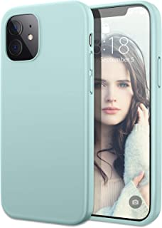 DTTO Silicone Case Compatible with iPhone 12 5.4 inch 2020, Full Body Protection Cover [Enhanced Camera and Screen Protection] for Apple iPhone 12, Mint Green
