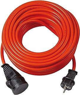 Brennenstuhl BREMAXX Verlängerungskabel 10m Kabel in orange, für den Einsatz im Außenbereich IP44, Stromkabel einsetzbar bis -35°C, öl- und UV-beständig