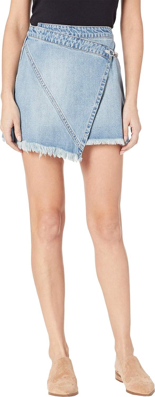[BLANKNYC] Blank NYC Womens Denim Latch Detail Skirt in Little Secret