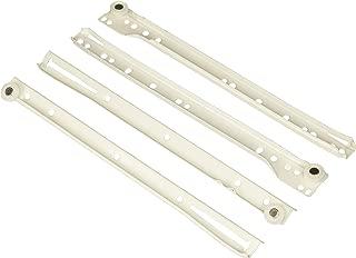 AmazonBasics - Guías correderas para cajones, tipo europeo, 30,5 cm, revestimiento blanco en polvo - paquete de 2