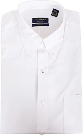 d9bca957 Club Room Slim Fit Solid White Button Down Collar Easy Care Cotton Dress  Shirt