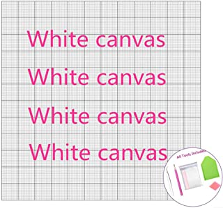 1pcs 20x15cm Diamond Embroidery Canvas with Glue Empty Canvas with Markings Diamond Painting Square Blank Grid Adhesive Canvas Accessories