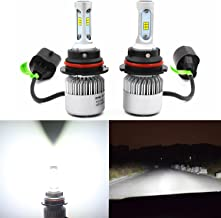Alla Lighting Extremely Super Bright High Power CSP Chipset HB5 9007 9007LL LED Headlight Bulbs w/ 8000Lm 6500K Xenon White for Replacing High Low Beam Halogen Headlamp All-in-One Conversion Kits