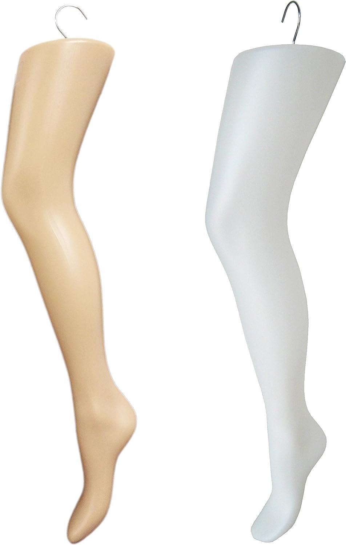 Plastic Women S Tall Thigh High Hosiery Leg Display Form Hanger White Arts Crafts Sewing Amazon Com