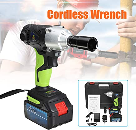 8.0Ah 68V Cordless Electric Wrench Rechargeable Li Battery Hand Drill Driver Drill Power Wrench Tools 1 Charger with 2 Batteries : US