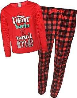 Sweet & Sassy Girls' 2-Piece Knit Microfleece Christmas Pajama Set