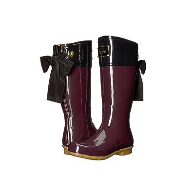 Joules Evedon Tall Boot (Burgundy Rubber) Women