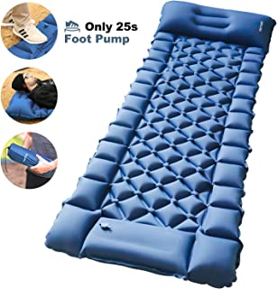 FRETREE Camping Air Sleeping Pad Mat - Foot Press...