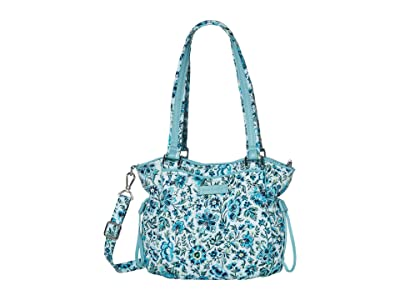 Vera Bradley Iconic Mini Glenna Satchel (Cloud Vine) Bags