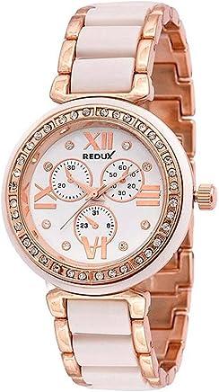 Redux Stylish Analogue Off-White Round Dial Girls Watch-Rws0028