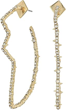 Alexis Bittar - Crystal Encrusted Abstract Tulip Hoop Earrings