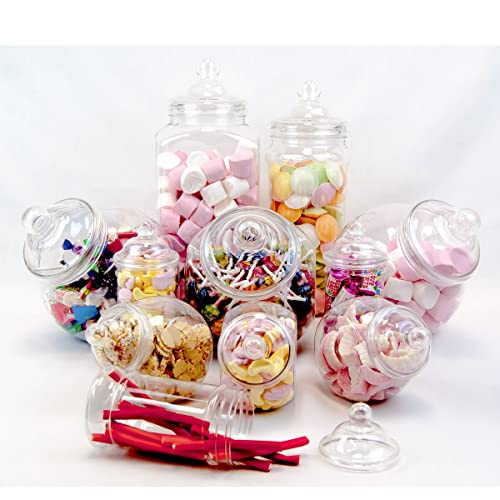 Pleasing Plastic Candy Jars For Candy Buffet Amazon Com Interior Design Ideas Grebswwsoteloinfo