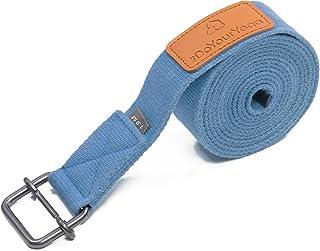 #DoYourYoga Cinturón de Yoga »Yaro« / Correas para Yoga de algodón 100% con Cierre en Forma de Anillas metálicas / 1,9m / 2,5m / 3m