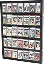 Graded Sport Cards Collectible Game Card Display Case Wall Cabinet w/98% UV Door, Lockable