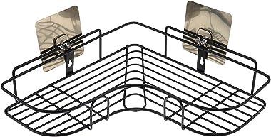 DEEJET Self-Adhesive Metal Bathroom Corner Rack Storage Shelves, Bathroom Storage Rack Corner, Bathroom Corner Shelf Organize
