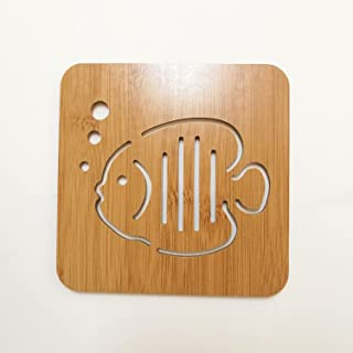 Didcant Carved Wooden Coaster / Dinner Decor, Perfect Design and Multi Patterns for Drink/