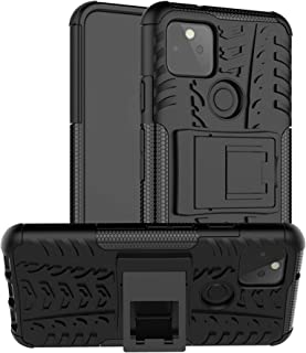 Compatible with Google Pixel 5 Case Kickstand Pixel5 Cases Stand Hard Protective Silicone Cover Gogle Pixel-5 S-View Kick-...