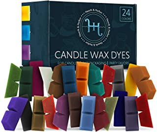 Hearth & Harbor Candle Dyes for Candle Making, Candle Color Dye for Soy Wax, 24 Candle Wax Dye Blocks, Nontoxic Candle Mak...