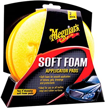 """Meguiar's X3070 Soft Foam 4"""" Applicator Pads (2 Pack) for hand applying waxes or tire dressings: image"""
