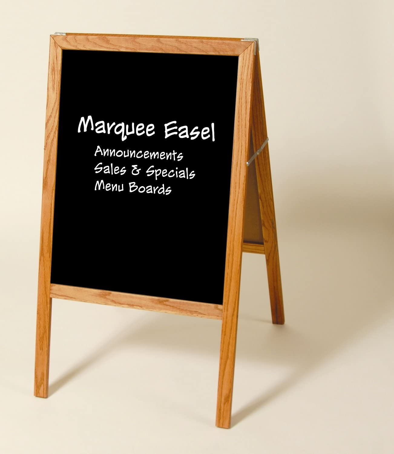 Folding Minneapolis Mall Two-sided Marquee Stained Wood - Easel Regular discount Chalkboards Black