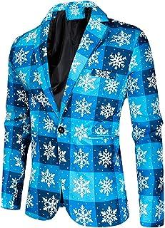 Men's One Button Printed Performance Blazer Slim Fit Peak Lapel Suit Jacket Prom Party Tuxedos Blazer Spring Winter Coat