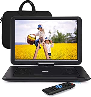 """6-7 Hours Portable DVD Player with 15.6"""" Large Swivel Screen Support Resume, Sync Screen, USB SD, AV Out & in, Region Free..."""