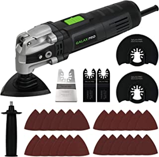 Oscillating Saw, GALAX PRO 3.5A 6 Variable Speed Oscillating Multi Function Power Tool Kit with Quick Clamp System Change and 30pcs Accessories, Oscillating Angle:4°for Cutting, Sanding, Grinding