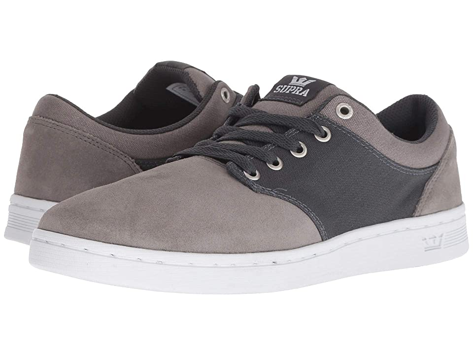 Supra Chino Court (Grey/Dark Grey/White) Men