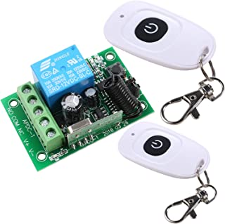 UHPPOTE DC12V Wireless Remote Control Relay Switch 433Mhz 1-Channel with 2 Transmitters