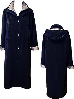 Gallery Womens Full Length Button Front Raincoat, Detachable Hood Raincoat