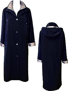 Gallery Women's Full Length Button Front Raincoat, Detachable Hood