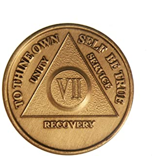 7 Year Bronze AA (Alcoholics Anonymous) - Sober / Sobriety / Birthday / Anniversary / Recovery / Medallion / Coin / Chip by Generic