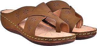 comfort slipper ICS-L361- women leather soft insole sandal