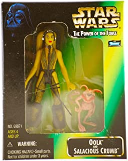 Oola, Jabba's Slave Girl Dancer and Salacious Crumb Vintage 1998 Star Wars Power of the Force 3 3/4 Inch Action Figures