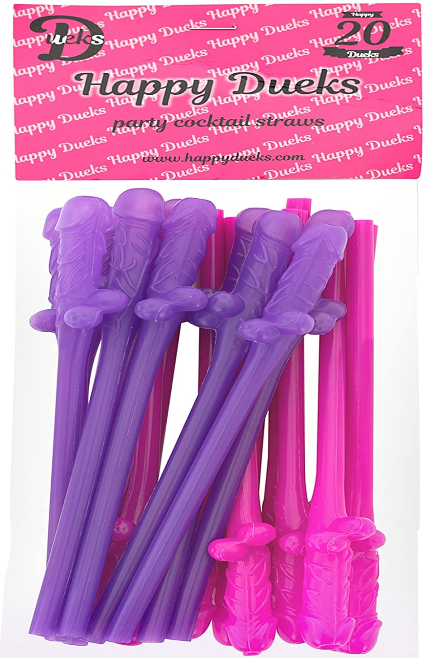 Bachelorette Party Drinking Straws- 20 Pack - Best Bachelorette Party Supplies Fun Night Out Props - Fun Shape Bachelorette Straws Perfect for Hen Party