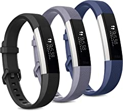 Pack 3 Replacement Band Compatible for Fitbit Alta Bands/Fitbit Alta HR Bands, Adjustable Replacement Soft Silicone Sport ...