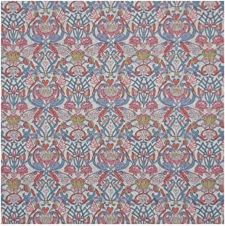 Pink & Blue Print 'Love Lily' Liberty Lawn Cotton Handkerchief