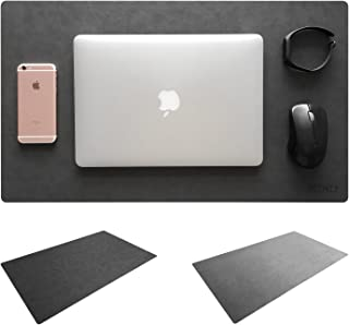 """Leather Desk Mat & Mate 24"""" x 14"""" Non-Slip Smooth Writing Desk Pad Protective Mat Protector Mouse Pad for Desktops and Lap..."""