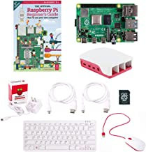 Raspberry Pi 4B Full Official Desktop Computer Starter Kit w/Pi 4 Model B Board, 16GB Micro SD Card, USB Mouse, USB Keyboa...