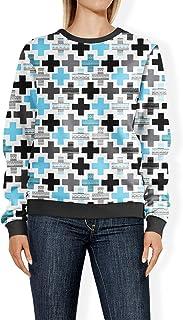Rainbow Rules Geometric Cross Blue - 2XL - Womens Sweatshirt
