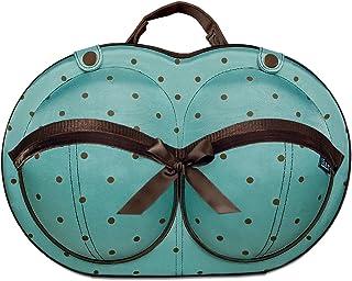 حقيبة سفر منظمة الملابس الداخلية - لمقاسات حمالة الصدر D، DD, DDD - حقيبة تنظيم ملابس داخلية للنساء لحمالات صدر كبيرة - تن...