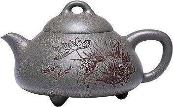 JIAZHOUMA Oryginalny ręcznie robiony fioletowy gliniany garnek Yixing Zisha dzbanek do herbaty ręcznie wykonany zestaw nac...